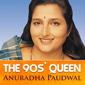 Play The 90s' Queen - Anuradha Paudwal Songs Online for Free